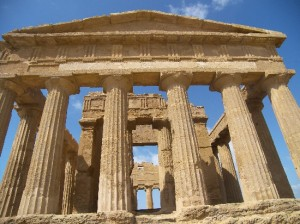 The Greek temple of Concordia in Agrigento, Sicily.