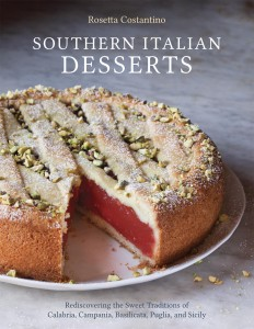 Crostata al Gelo di Mellone (watermelon pudding tart) from Sicily graces the book's cover.