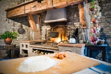 Enjoy a private cooking class in the rustic kitchen in Palazzo Donati.