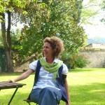 Luisa in the Palazzo Donati garden, Mercatello sul Metauro.