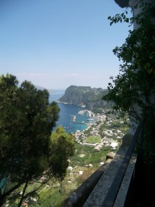 Villa San Michele is perched on a cliff top in Anacapri.