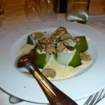 Sformato di spinaci al tartufo nero