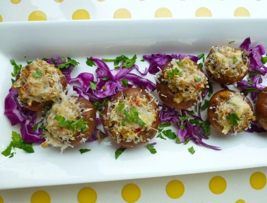 Dried porcini funghi add true Tuscan savor to this fresh mushroom antipasto.