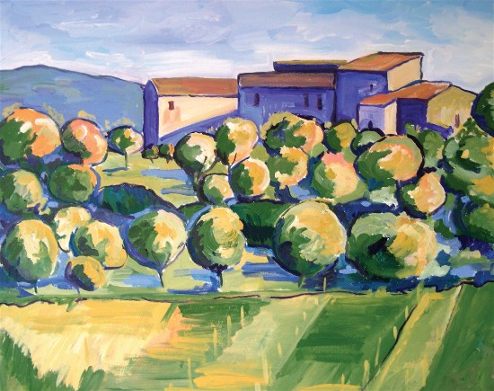 A painting of Tuscany by Melissa