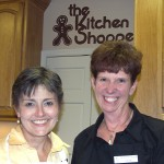 Sharon with Suzanne Hoffman at the Kitchen Shoppe Cooking School in Carlisle, PA.