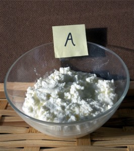 Ricotta coagulated with rennet produces a soft, creamy, sweet cheese.