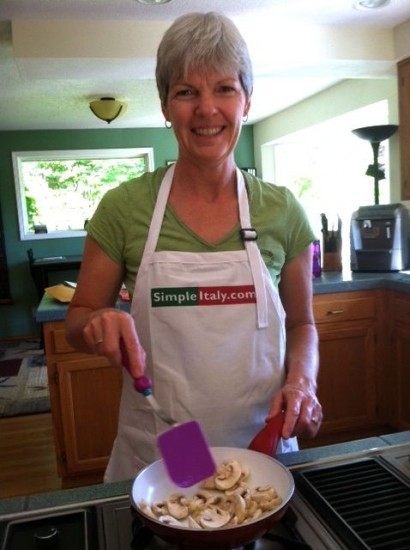 "Apron giveaway winner Laura Collins wrote on her entry comment: ""I would wear this apron regularly. I love to cook, especially Italian food and I am currently waiting for my dual citizenship to be finalized."""