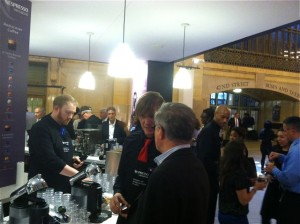 Nespresso's pop-up caffe at Manhattan's Grand Central Station is the ticket to a genuine Italian coffee experience.