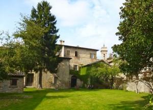 The giardino behind Palazzo Donati.
