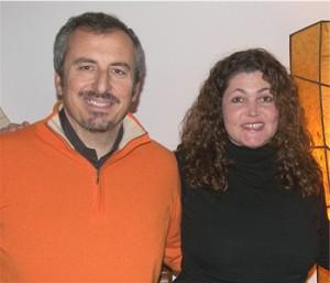 B&B Cavallino proprietor Paola Danielli (right) and her husband Paolo Mercurio.