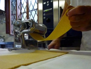 Flour and egg transformed into gossamer sheets of fresh pasta.