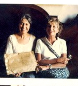 Language professor Patricia DeBellis (left) savored 15 summers at a fifteenth-century castle in Tuscany.