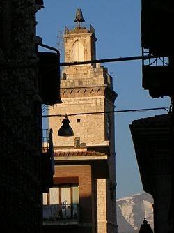 L'Aquila's Palazzo Civico in better times.
