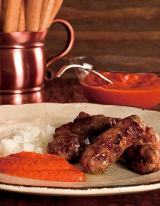 Cevapcici con Ajvar is quick and simple enough for a casual meal.