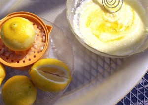 Next, whisk the olive oil into the lemon-Parmigiano paste to create an unctuous sauce.