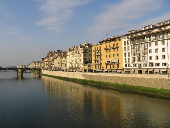 The Arno River runs through the heart of Florence.