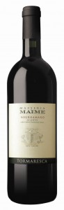 Maime is 100 percent Negroamaro grapes.