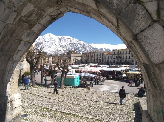 The market in Sulmona is a feast for the senses.