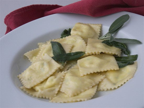 Cheese Ravioli with Sage Butter