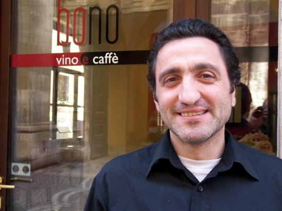 Roberto Bono, co-owner of Albergo Stella in Sulmona.